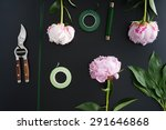 tools and accessories florists... | Shutterstock . vector #291646868