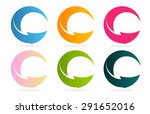 colorful arrows set. download... | Shutterstock .eps vector #291652016
