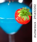 Small photo of Rusian Night made from pernod and blue curacao