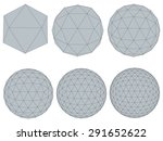 illustration set with spheres.... | Shutterstock . vector #291652622