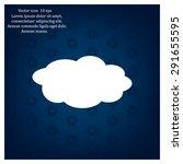 cloud icon  vector illustration.... | Shutterstock .eps vector #291655595