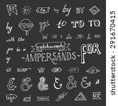 set of hand drawn ampersands... | Shutterstock .eps vector #291670415