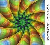 Abstract Fractal Spiral Design...
