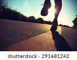 young fitness woman legs... | Shutterstock . vector #291681242