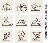 natural disaster icons vector... | Shutterstock .eps vector #291681566