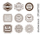 retro design insignias... | Shutterstock .eps vector #291687332