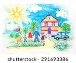 hand drawn bright childrens