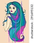 fashion illustration. portrait... | Shutterstock . vector #291695132