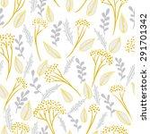 abstract botanical seamless... | Shutterstock .eps vector #291701342