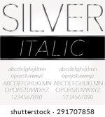 silver font   regular and... | Shutterstock .eps vector #291707858