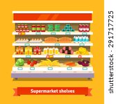 shop  supermarket interior... | Shutterstock .eps vector #291717725