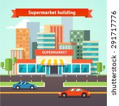 roadside supermarket or local... | Shutterstock .eps vector #291717776