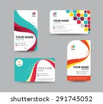 business card template design... | Shutterstock .eps vector #291745052