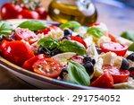 caprese italian or... | Shutterstock . vector #291754052