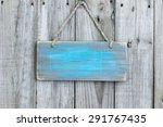 Blank Rustic Teal Blue Wooden...