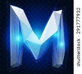 crystal ise alphabet. vector... | Shutterstock .eps vector #291777932