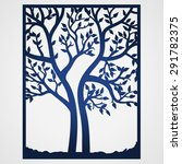 abstract frame with tree. may... | Shutterstock .eps vector #291782375
