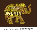big data hadoop concept | Shutterstock .eps vector #291789776