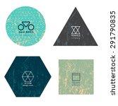 set of modern minimalistic...   Shutterstock .eps vector #291790835