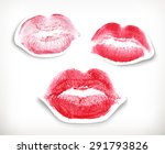lipstick kiss in red and pink ... | Shutterstock .eps vector #291793826