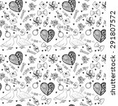 hand drawn seamless pattern... | Shutterstock .eps vector #291807572