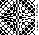 seamless curved shape pattern.... | Shutterstock .eps vector #291808016