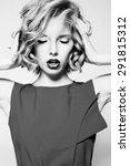 black and white fashion...   Shutterstock . vector #291815312