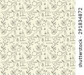 doodle style seamless science ... | Shutterstock . vector #291834872