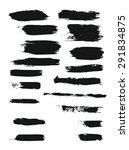 big set of grunge brush strokes.... | Shutterstock . vector #291834875
