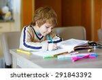 portrait of cute happy... | Shutterstock . vector #291843392