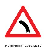 bend to left warning traffic... | Shutterstock .eps vector #291852152