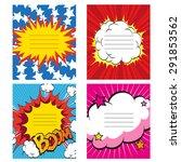 set of 4 comics book design...   Shutterstock .eps vector #291853562