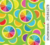 rainbow lemon seamless... | Shutterstock .eps vector #291861278