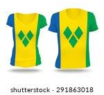 flag shirt design of saint...   Shutterstock .eps vector #291863018