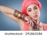 Beautiful Fashion Model With...