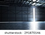 Empty Building Hangar With The...