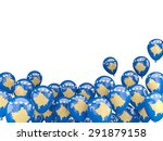 flying balloons with flag of... | Shutterstock . vector #291879158