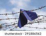 refugee labeled passport folded ...   Shutterstock . vector #291886562