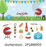 summertime holiday template... | Shutterstock . vector #291888905