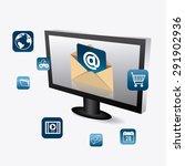 email marketing design  vector... | Shutterstock .eps vector #291902936