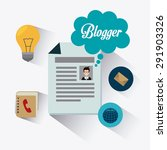 blogger digital design  vector... | Shutterstock .eps vector #291903326