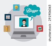 blogger digital design  vector... | Shutterstock .eps vector #291906065