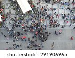 crowd of people from above bird'... | Shutterstock . vector #291906965