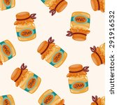 jam   cartoon seamless pattern... | Shutterstock . vector #291916532