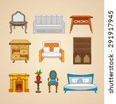 set of ten illustrations home... | Shutterstock .eps vector #291917945