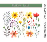 watercolor floral collection... | Shutterstock .eps vector #291939122
