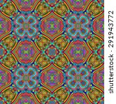 seamless kaleidoscopic colorful ... | Shutterstock . vector #291943772