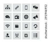 communication icons universal... | Shutterstock . vector #291946952