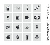 cafe icons universal set for... | Shutterstock . vector #291947138