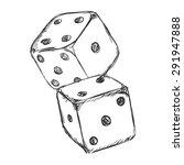 vector sketch two dices. casino ... | Shutterstock .eps vector #291947888